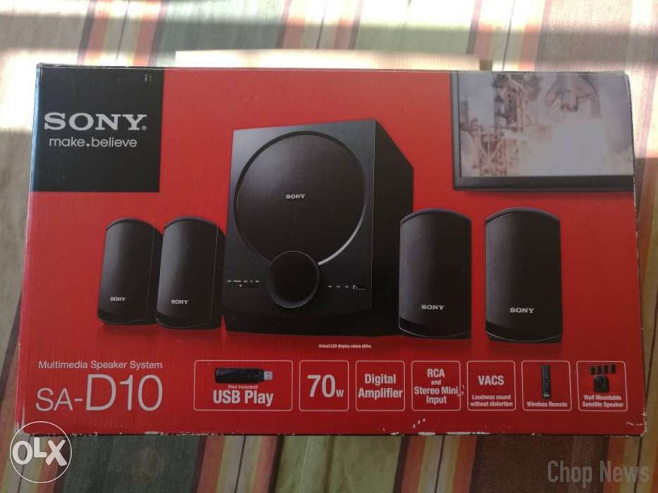 Sony Sa D10 4 1 Multimedia Speaker System Review Chop News