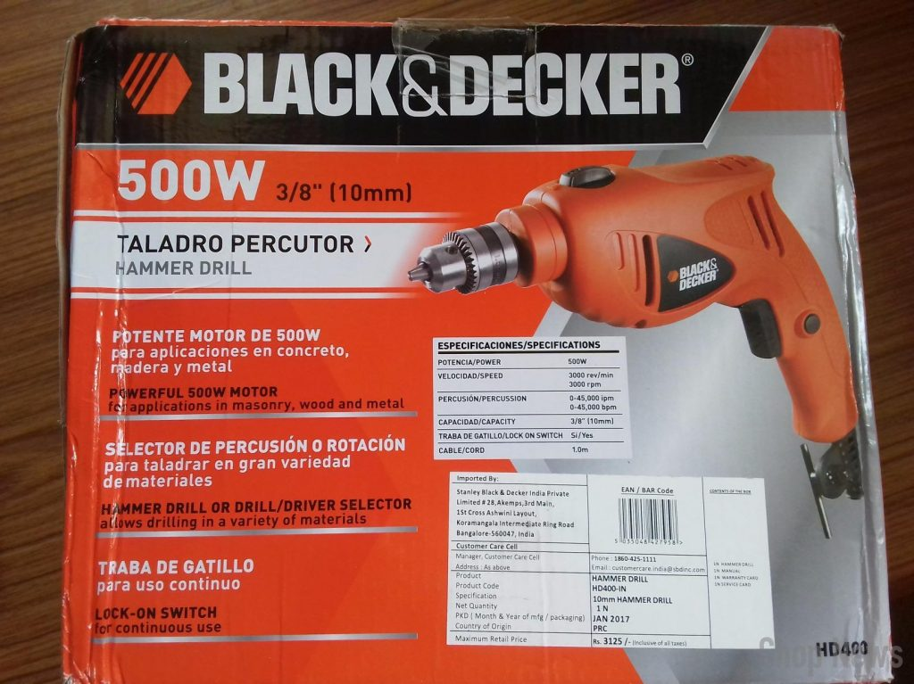 BLACK + DECKER HD400KA50 Impact Drill Kit