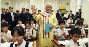 Narender Modi with Students