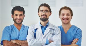 doctor leading a medical team at the hospital 1098 493