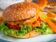 Cheesy Chicken Burger