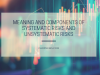 Systematic Risks and Unsystematic Risks