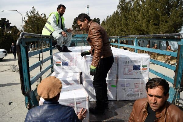 A shipment of Covid-19 vaccines donated by the Indian government, arrived in Kabul, Afghanistan, this month.