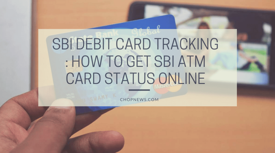 SBI ATM card status